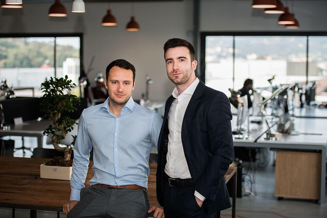 Ghjuvan Micaelu Grimaud Paoli et Sebastien Forcioli, fondateurs de Biomathematica